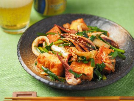 イカと厚揚げのキムチ炒め22