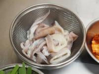 イカと厚揚げのキムチ炒め33