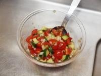 蒸し鶏と茄子の彩り夏野菜添37