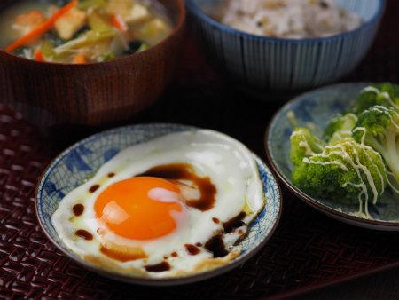 小松菜味噌汁雑穀ご飯09