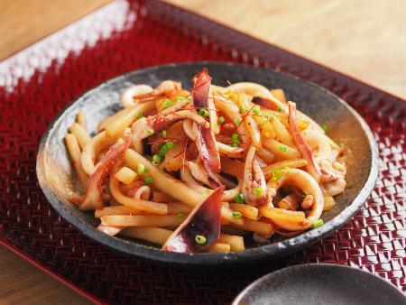イカと大根のピリ辛炒め06