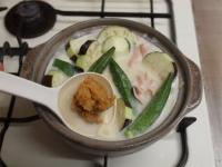 夏野菜豆乳カレー鍋38