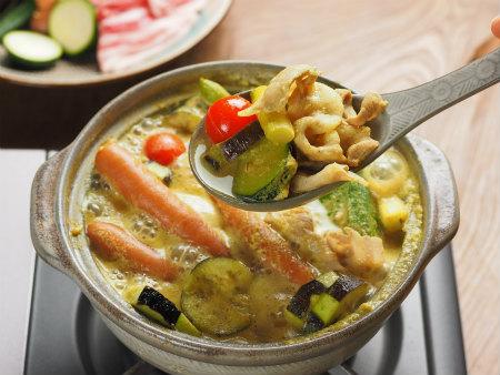 夏野菜豆乳カレー鍋28