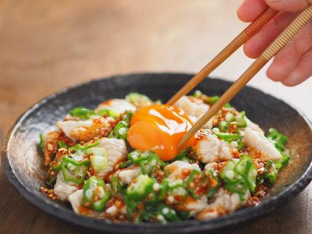 鶏むね肉ユッケ風25