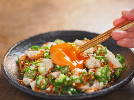 鶏むね肉ユッケ風34