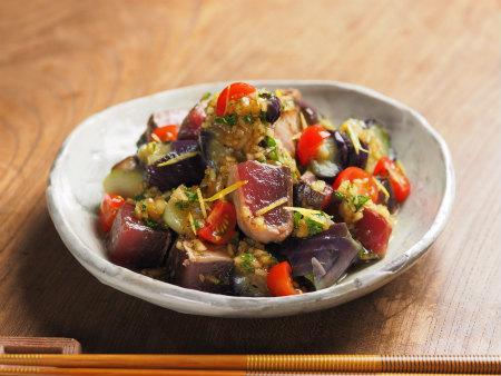 カツオたたき茄子サラダ02