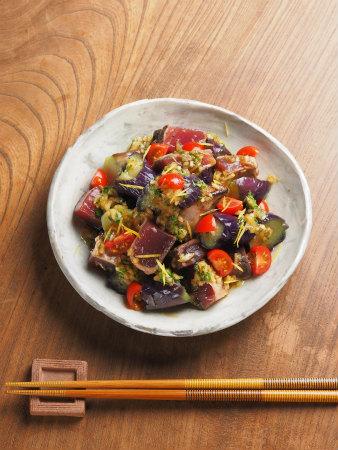 カツオたたき茄子サラダ06