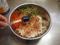 ささみと里芋、三つ葉の和え物55