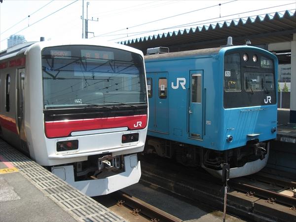 E331系 AK1編成&201系 ケヨ53編成 2010 7/25