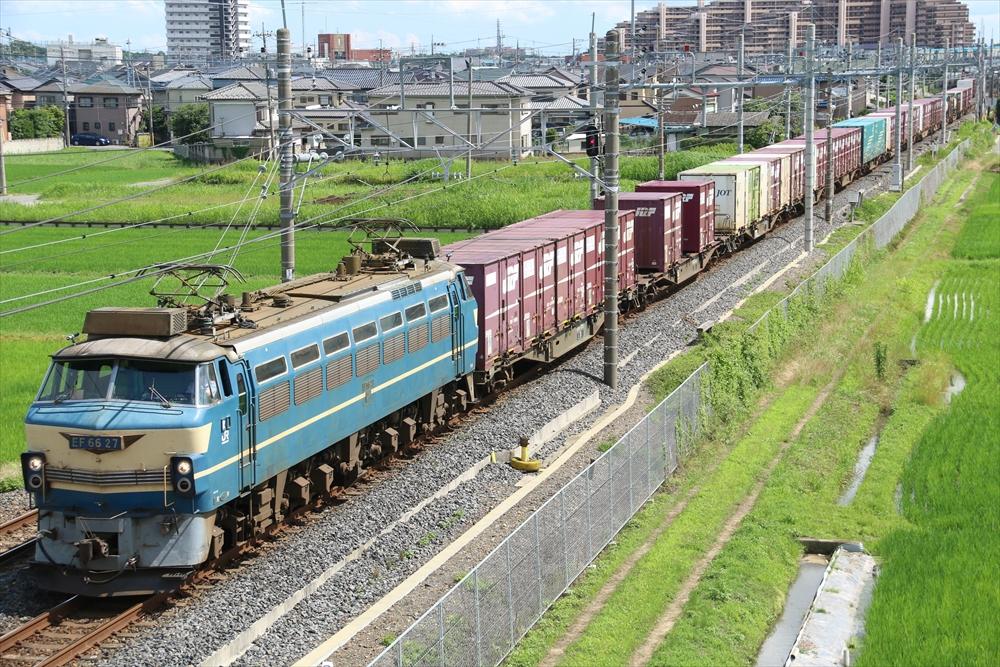 EF6627+コキ 3085レ 2014 6/29