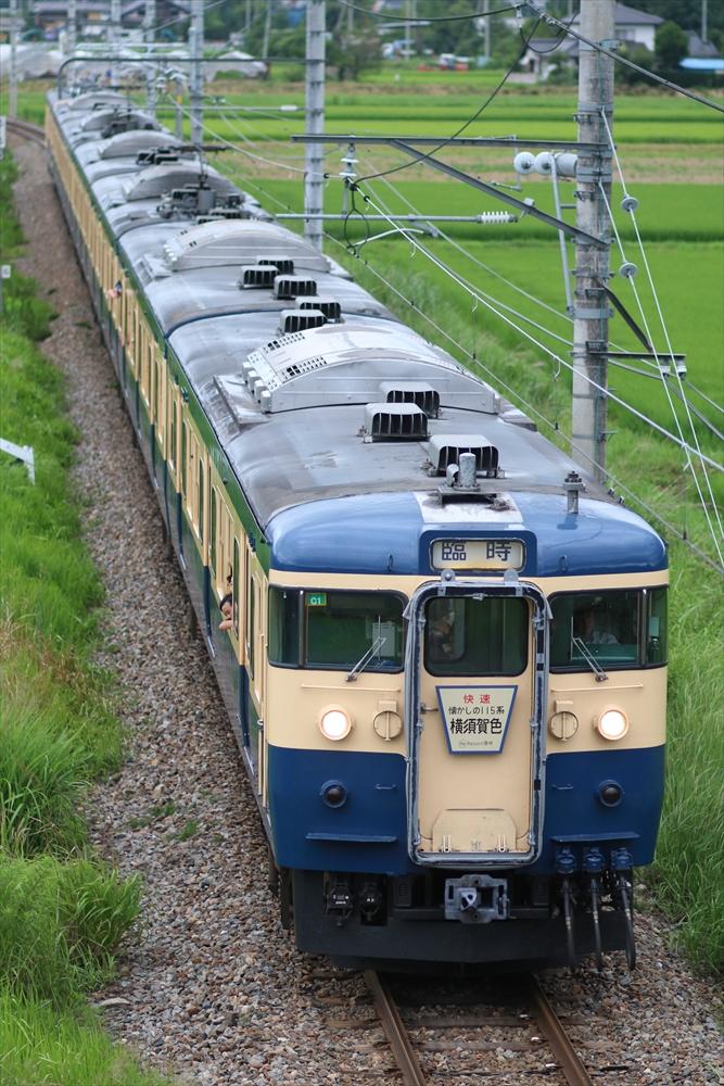 115系 C1編成+クモユニ143-1 2014 7/19