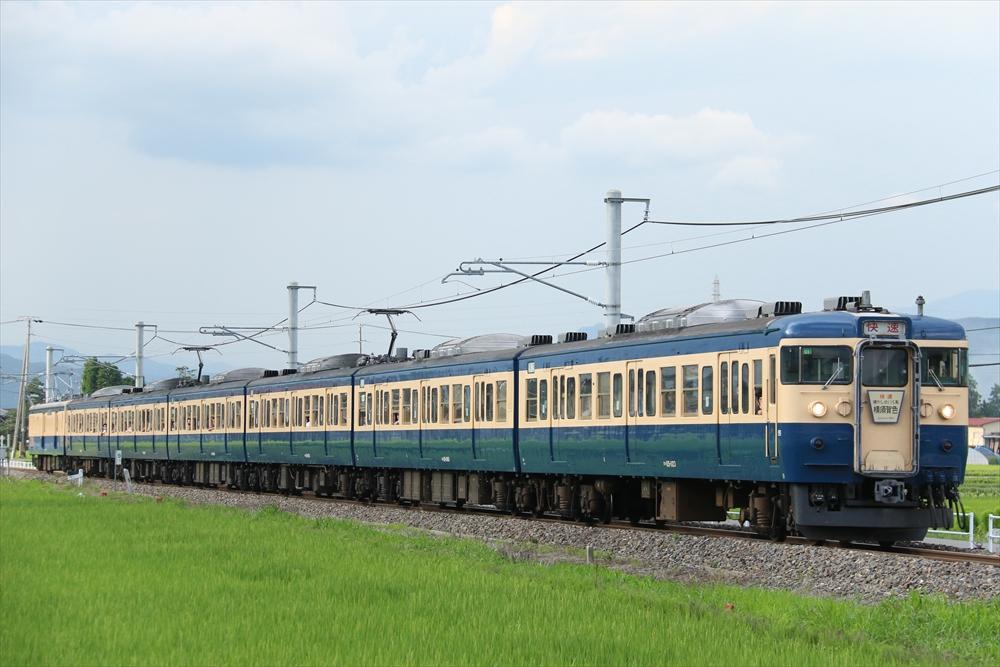 115系 C1編成+クモユニ143-1 2014 7/20
