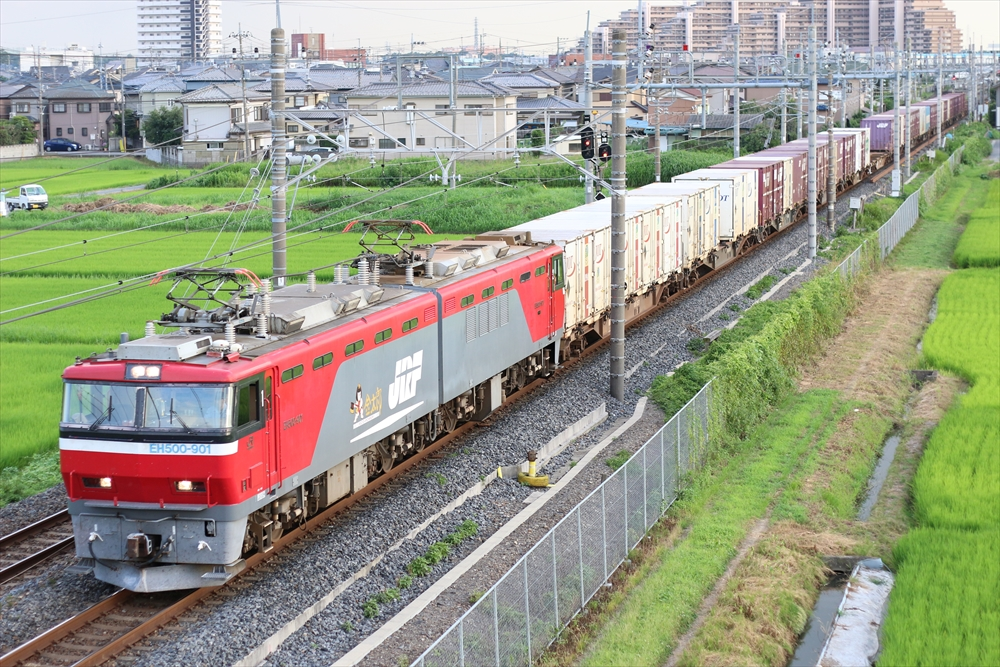 EH500-901+コキ 3057レ 2014 7/28