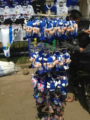 インドネシアサッカーキーホルダー