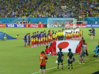 ワールドカップ 日本-ギリシャ 集合写真1