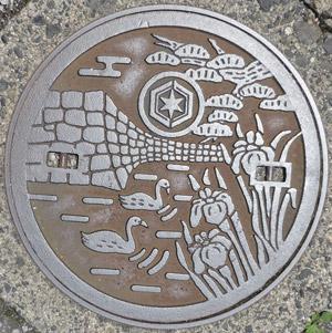 彦根市マンホールの蓋blog02