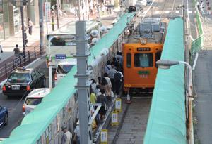 阪堺線歩道橋からblog01