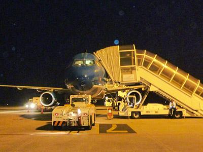 出発便のモニター