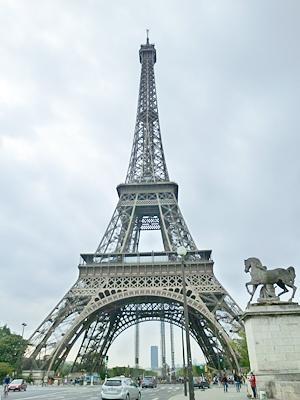 イエナ橋の上から見たエッフェル塔