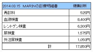 20140315 診療明細書【MARIN】