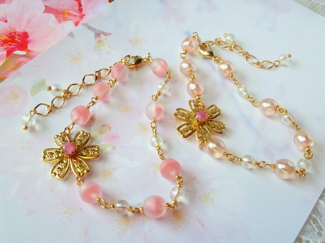 桜咲くブレスレット1