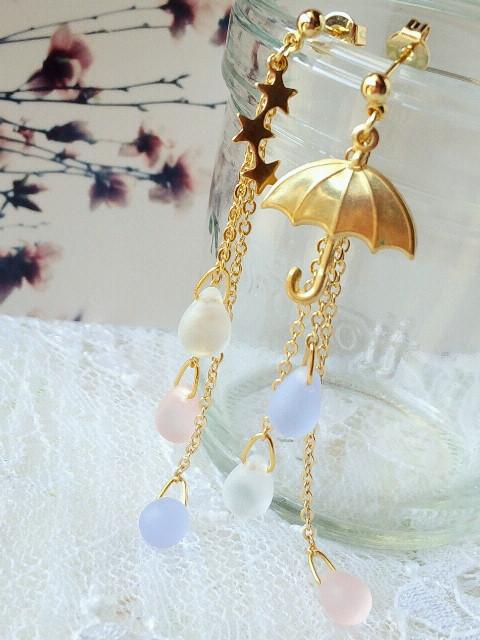 流星と傘と雫のキャッチピアス新色dreaming3
