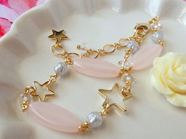 星と桜色ベネチアンのブレス2