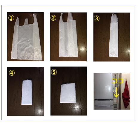 スーパーの袋の収納方法