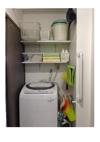 洗濯機横色の氾濫