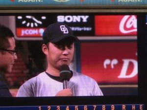 武藤投手。意外にもプロ初先発でした。