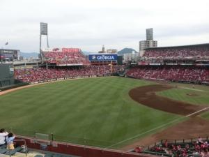 青空あふれる、素晴らしいスタジアムです。
