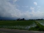 富山の散村風景。