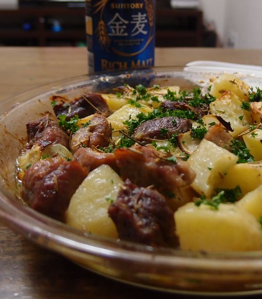 豚とジャガイモのオーブン焼き