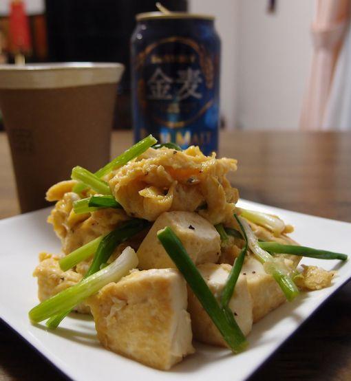豆腐とねぎチャンプル