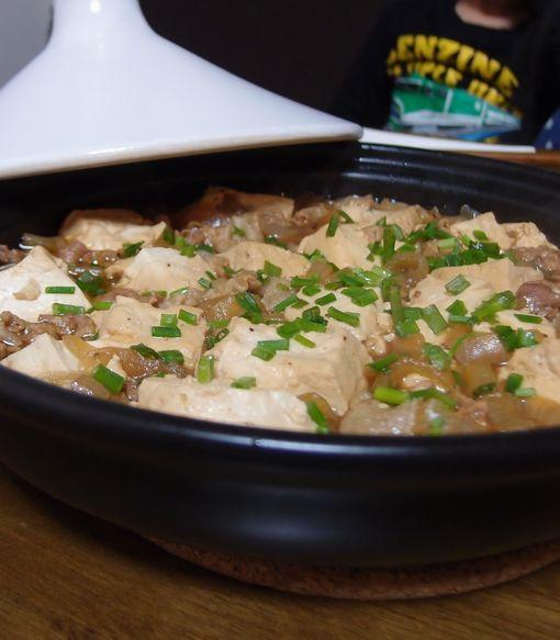 焼き肉のたれで肉豆腐
