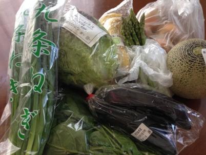 朝市の野菜たち
