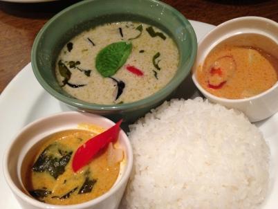 タイカレー3種食べ比べ