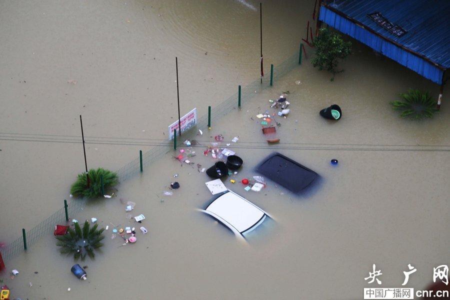 1759746516贵州铜仁遭受特大洪涝灾害 55万人受灾(图)