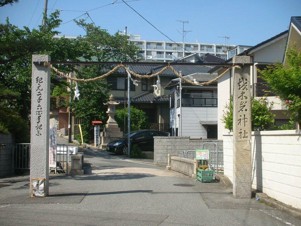 NikonのCOOLPIX S3で撮った神社の門