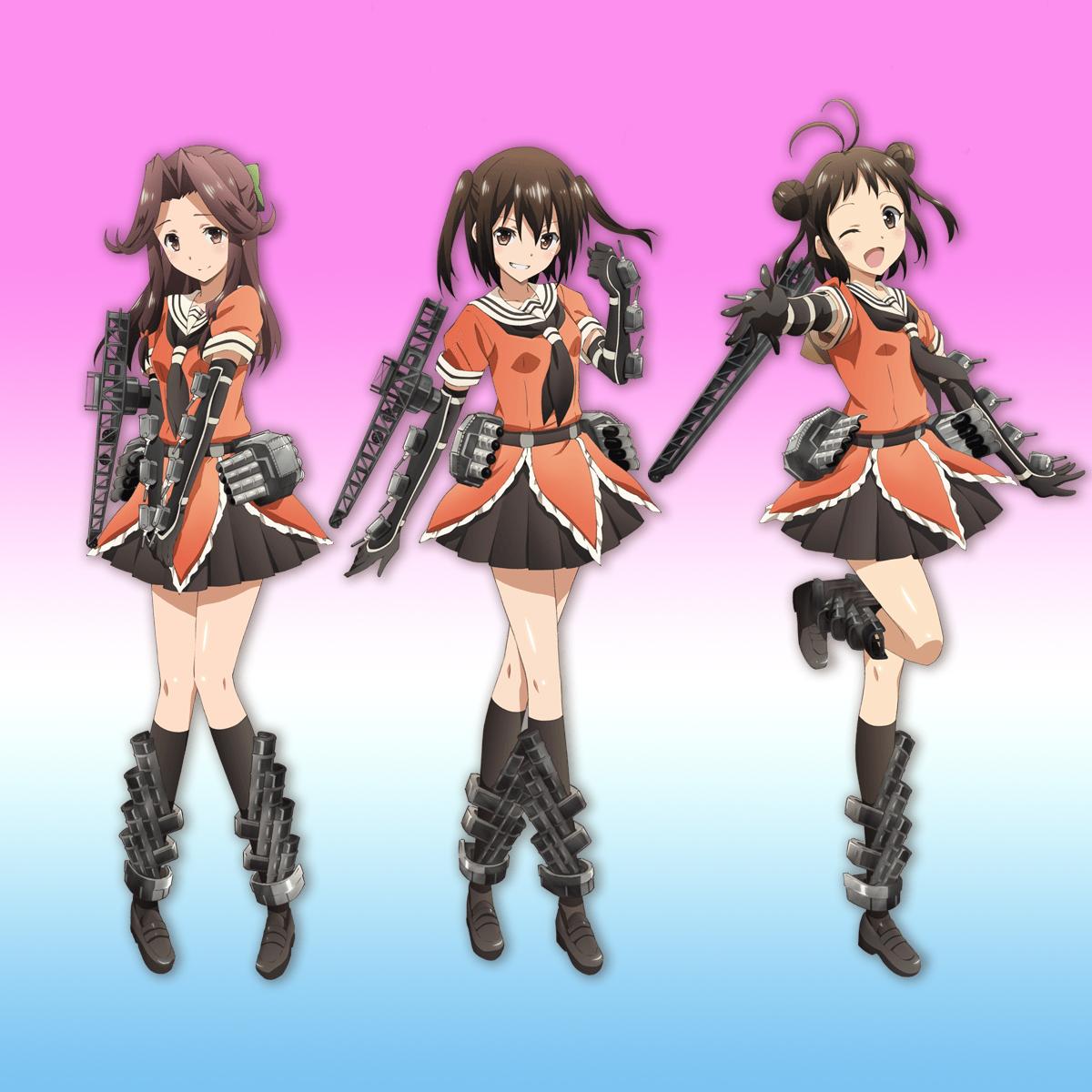 川内型三姉妹アニメビジュアル