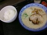 wスープラーメンセット@阿倍野noodles