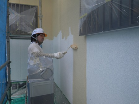 外壁中塗り (1)