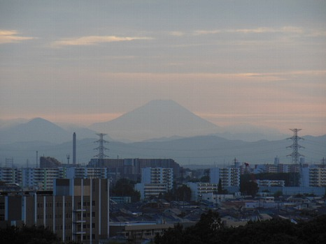 夕暮れ夏富士