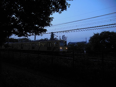 公園から見る電車
