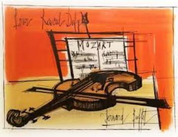 ビュフェのヴァイオリン絵