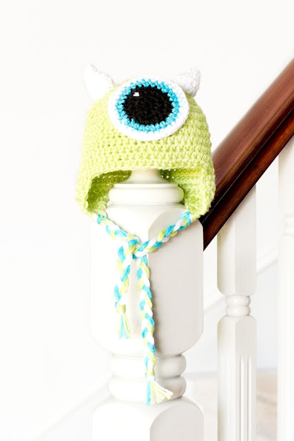 Mike Wazowski Baby Hat Crochet Pattern 1