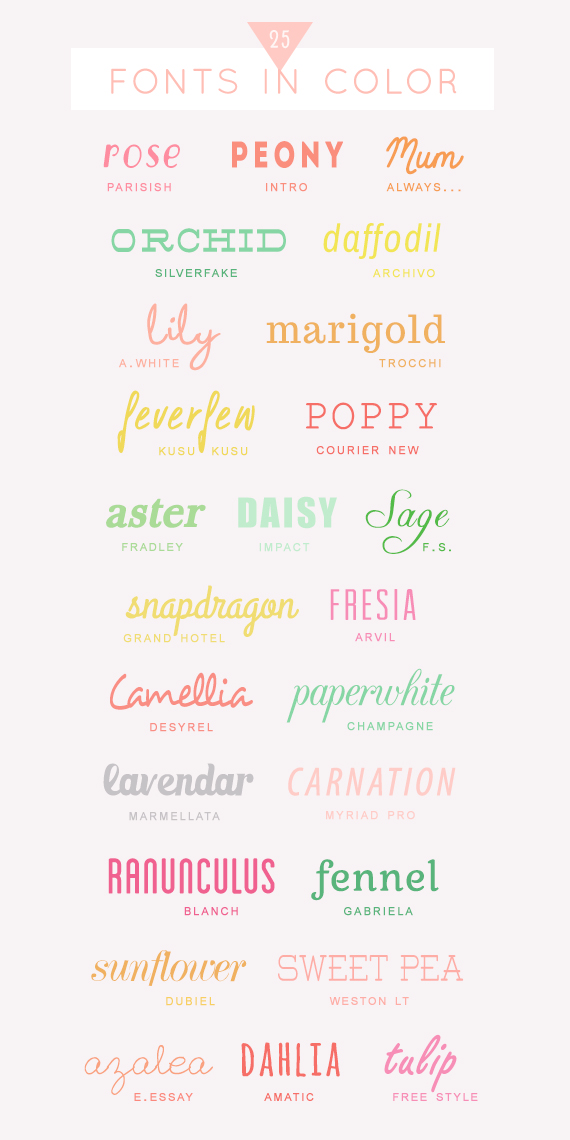 Fonts In Color