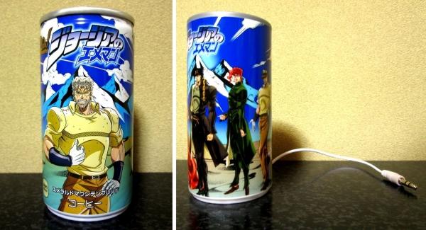 エメマン「ジョジョ」デザイン缶&缶型スピーカー