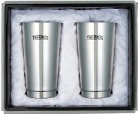 THERMOS 真空断熱タンブラー2個セット シルバー 400ml JMO-GP2