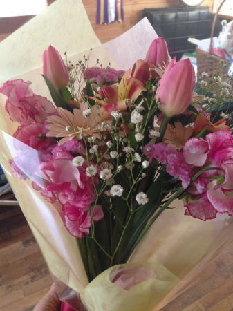 誕生日プレゼントのお花
